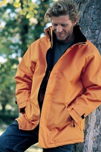 Đồng phục áo khoác – Áo khoác gió màu cam có nón 19