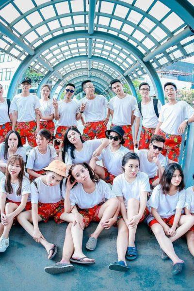 Đồng phục áo thun – Áo thun nhóm lớp cổ tròn màu trắng tay ngắn 04