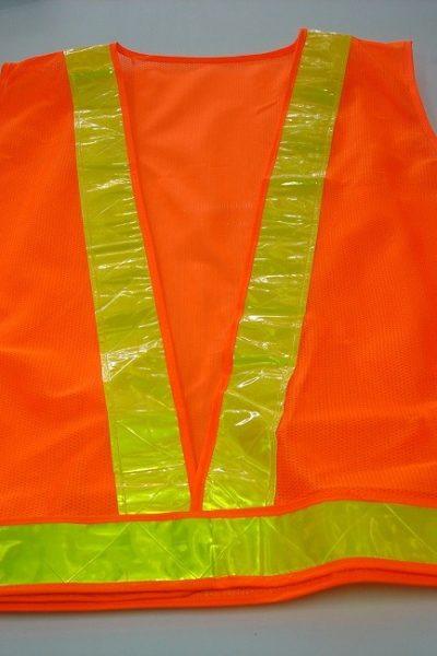 Đồng phục bảo hộ lao động bán sẵn – Áo gi lê màu cam 05