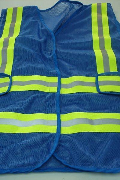 Đồng phục bảo hộ lao động bán sẵn – Áo gi lê màu xanh 06