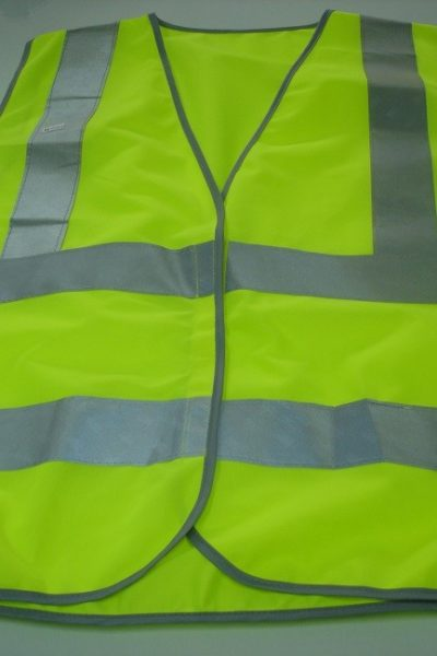 Đồng phục bảo hộ lao động bán sẵn – Áo gi lê màu xanh 07