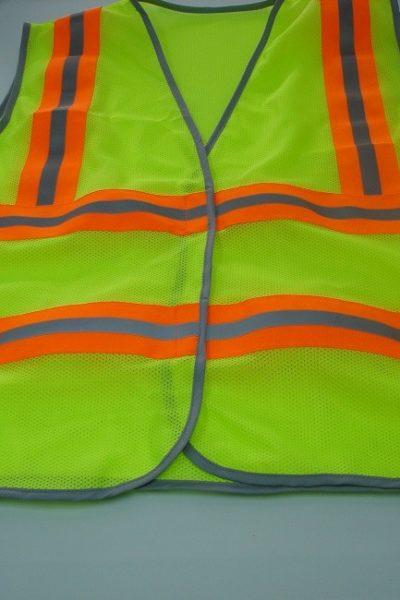 Đồng phục bảo hộ lao động bán sẵn – Áo gi lê màu xanh 08