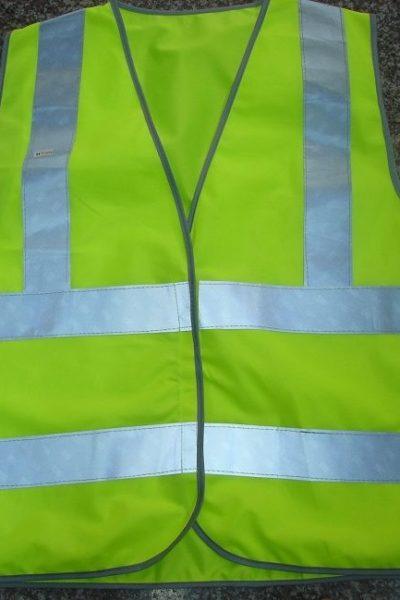 Đồng phục bảo hộ lao động bán sẵn – Áo gi lê màu xanh 09