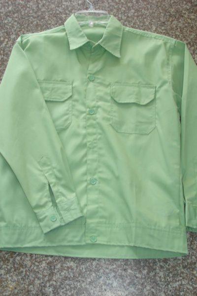Đồng phục bảo hộ lao động bán sẵn – Áo bảo hộ màu xanh 02
