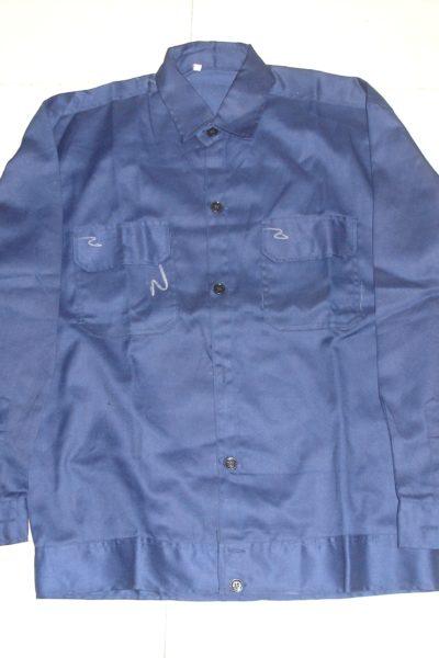 Đồng phục bảo hộ lao động bán sẵn – Áo bảo hộ màu xanh 01
