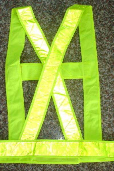 Đồng phục bảo hộ lao động – Phụ kiện dây đai phản quang màu xanh