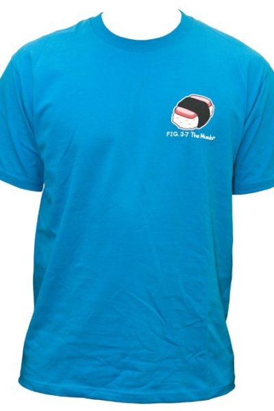 Đồng phục áo thun – Áo thun cổ tròn màu xanh tay ngắn 06