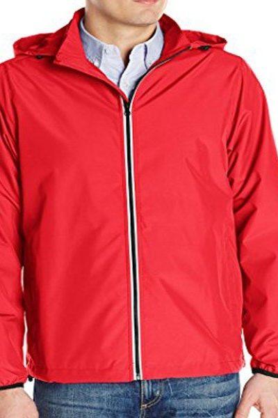 Đồng phục áo khoác – Áo khoác gió màu đỏ có nón 24