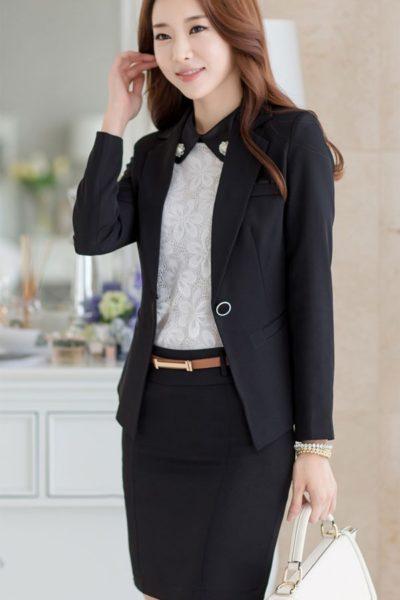 Đồng phục công sở – Áo vest nữ màu đen 26