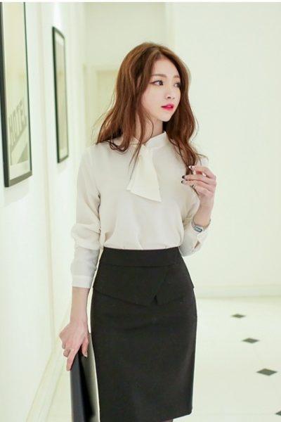 Đồng phục công sở – Chân váy ôm màu đen 10
