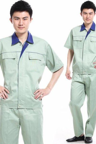 Đồng phục bảo hộ lao động – Quần áo bảo hộ lao động màu xám tay ngắn 28