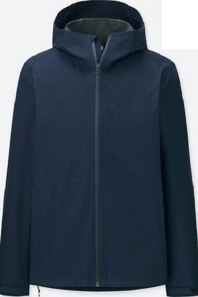 Đồng phục áo khoác – Áo khoác gió có nón màu xanh đen 28