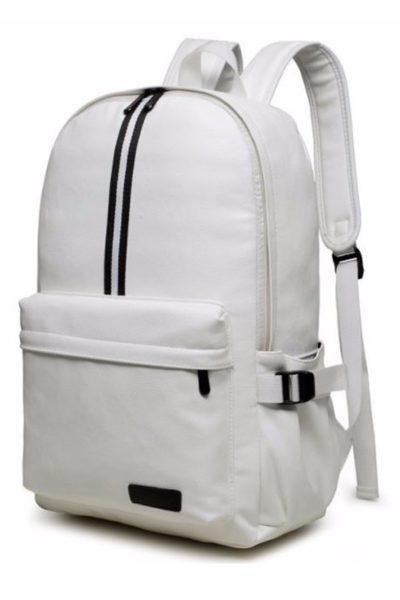 Đồng phục ba lô túi xách – Ba lô màu trắng dọc đen 30