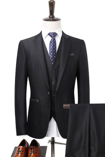 Đồng phục công sở – Áo vest nam màu đen 29