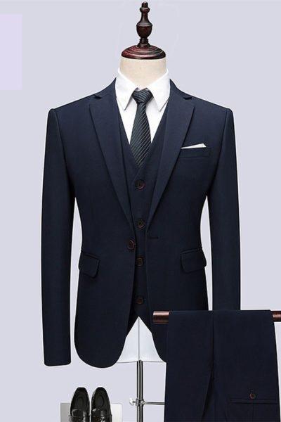 Đồng phục công sở – Áo vest nam màu đen 31