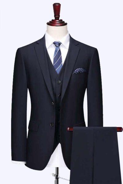 Đồng phục công sở – Áo vest nam màu đen 43