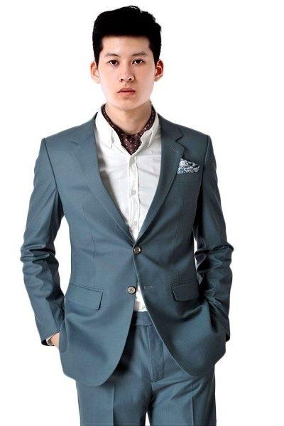 Đồng phục công sở – Áo vest màu xanh cổ vịt 51