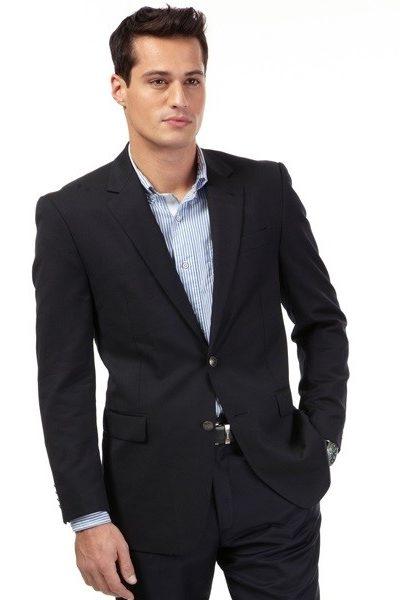 Đồng phục công sở – Áo vest nam màu đen 53