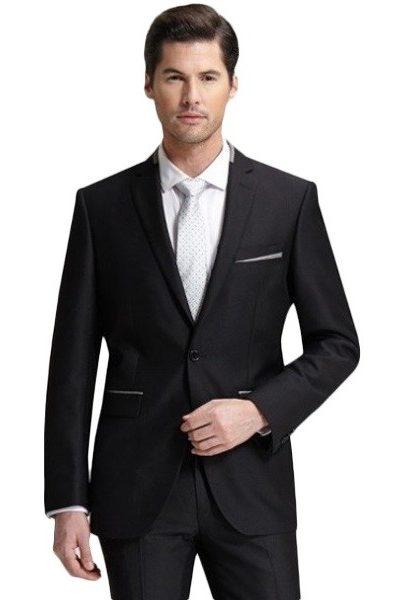 Đồng phục công sở – Áo vest nam màu đen 56