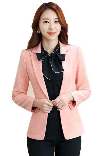Đồng phục công sở – Áo vest nữ màu hồng 36