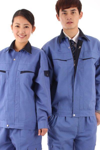 Đồng phục bảo hộ lao động – Quần áo bảo hộ lao động màu xanh 29