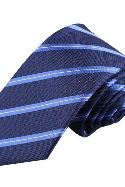 Phụ kiện – Caravat màu xanh đen sọc xanh 23