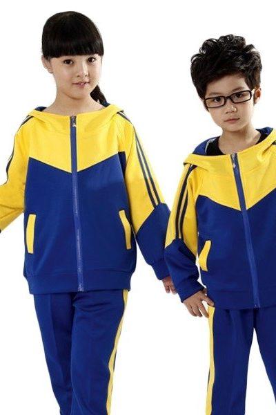 Đồng phục học sinh sinh viên – Đồng phục học sinh cấp I áo xanh phối vàng, quần xanh sọc vàng 29