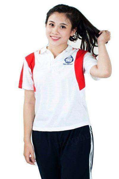 Đồng phục học sinh sinh viên – Đồng phục thể dục áo trắng phối đỏ, quần xanh đen 3 sọc trắng 20