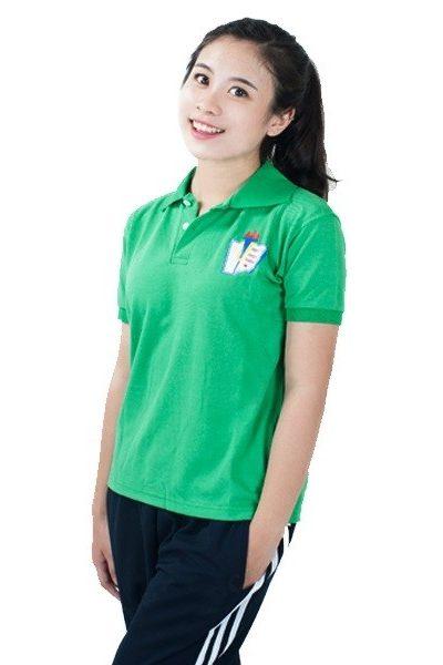 Đồng phục học sinh sinh viên – Đồng phục thể dục áo thun cổ trụ màu xanh, quần xanh đen 3 sọc trắng 21