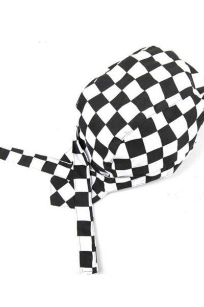 Phụ kiện – Đồng phục mũ cafe sọc caro trắng đen 26