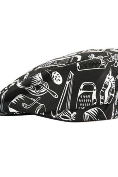 Phụ kiện – Đồng phục mũ cafe màu đen phối họa tiết 34