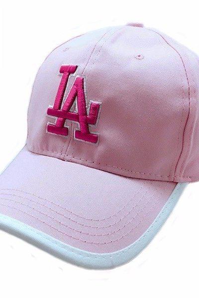 Phụ kiện – Đồng phục mũ lưỡi trai màu hồng nhạt viền trắng 40