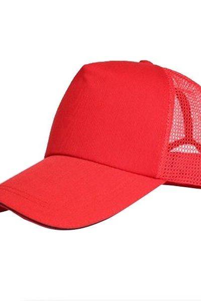 Phụ kiện – Đồng phục mũ lưỡi trai màu đỏ phối lưới 52