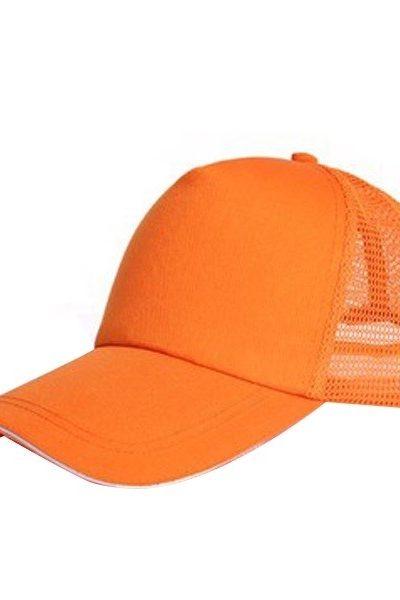 Phụ kiện – Đồng phục mũ lưỡi trai màu cam phối lưới 55