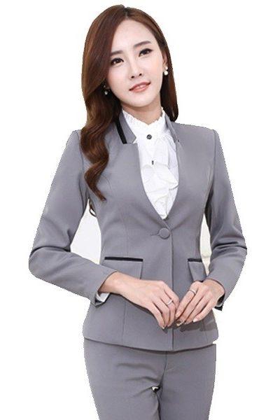 Đồng phục nhà hàng khách sạn – Đồng phục quản lý quần tây xám áo vest xám 16