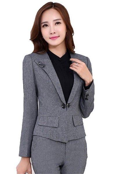 Đồng phục nhà hàng khách sạn – Đồng phục quản lý quần tây, áo vest xám 17