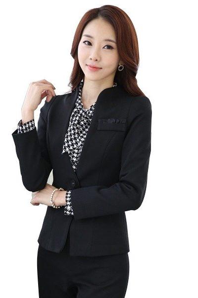 Đồng phục nhà hàng khách sạn – Đồng phục quản lý quần tây, áo vest đen 19