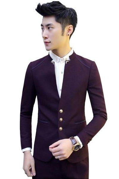 Đồng phục nhà hàng khách sạn – Đồng phục quản lý áo vest quần tây tím 24