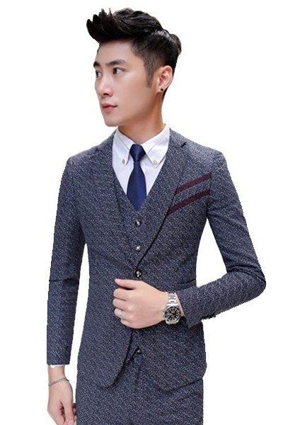 Đồng phục nhà hàng khách sạn – Đồng phục quản lý áo vest quần tây màu xám có họa tiết 28