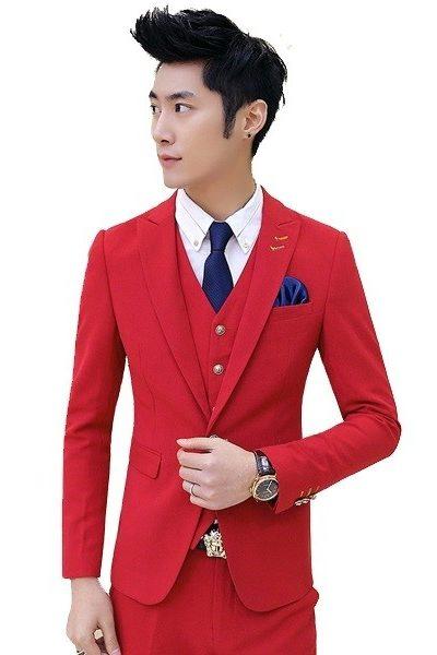 Đồng phục nhà hàng khách sạn – Đồng phục quản lý áo vest quần tây đỏ 29