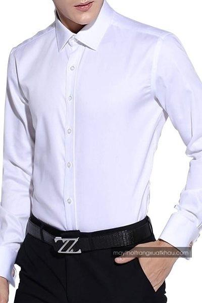 Đồng phục công sở – Áo sơ mi nam màu trắng tay dài 26