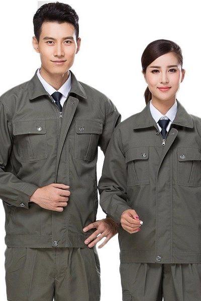 Đồng phục bảo hộ lao động – Quần áo bảo hộ lao động màu rêu xám 57