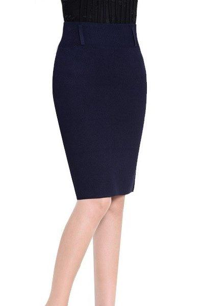 Đồng phục công sở – Chân váy body màu xanh đen 17