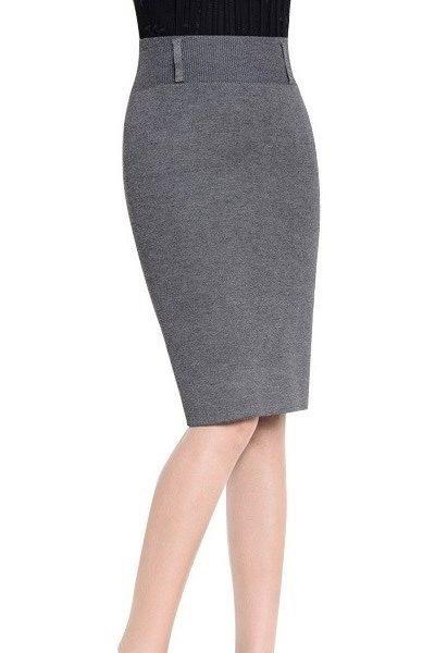 Đồng phục công sở – Chân váy body màu xám 18