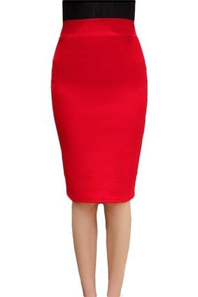 Đồng phục công sở – Chân váy body màu đỏ 20