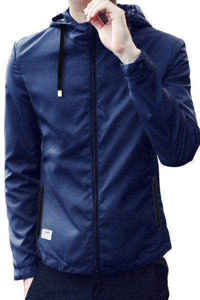 Đồng phục áo khoác – Áo khoác gió có nón màu xanh đen 29