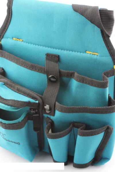 Đồng phục ba lô túi xách – Túi đựng đồ nghề màu xanh viền xám 71