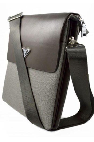 Đồng phục ba lô túi xách – Túi đeo chéo màu xám 61