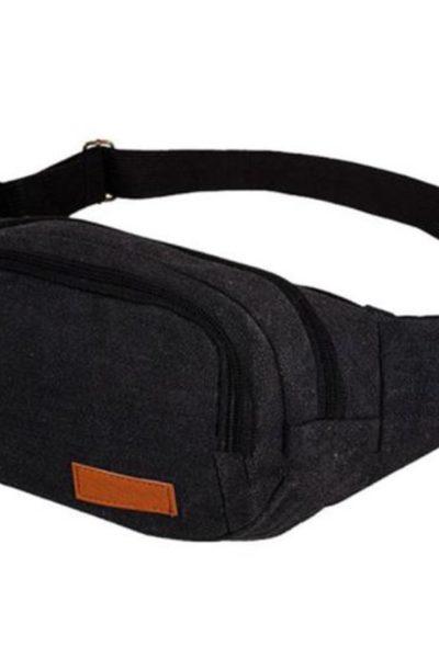 Đồng phục ba lô túi xách – Túi đeo hông màu đen 66