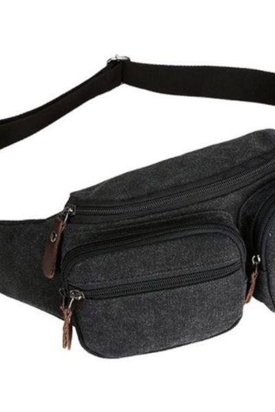 Đồng phục ba lô túi xách – Túi đeo hông màu xám 68